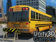 School Bus Parking 3D Icon